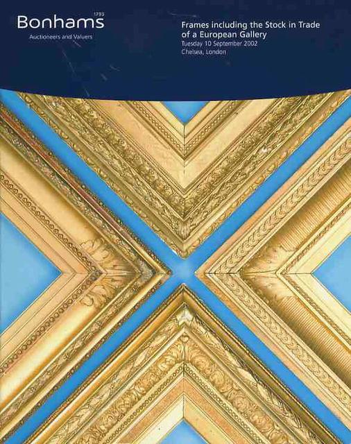 Glasses Frame Trade In : 2002Bonhams Chelsea Frames including the Stock in Trade of ...