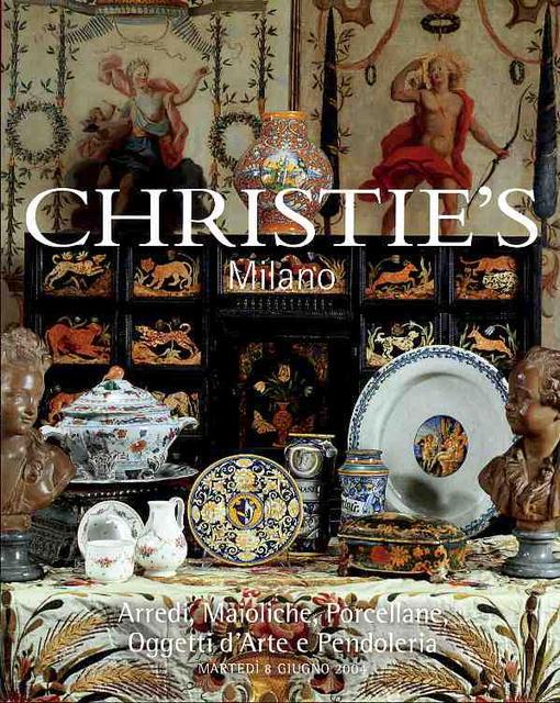 2004 christie 39 s milano arredi maioliche porcellane