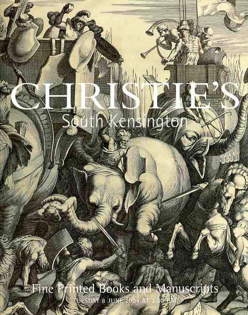 Fine Printed Books And Manuscripts Tuesday 22 June 2010 Christies