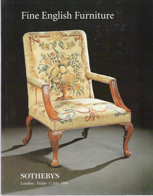 1996 sotheby 39 s london fine english furniture 7 12 96 for Furniture auctions london