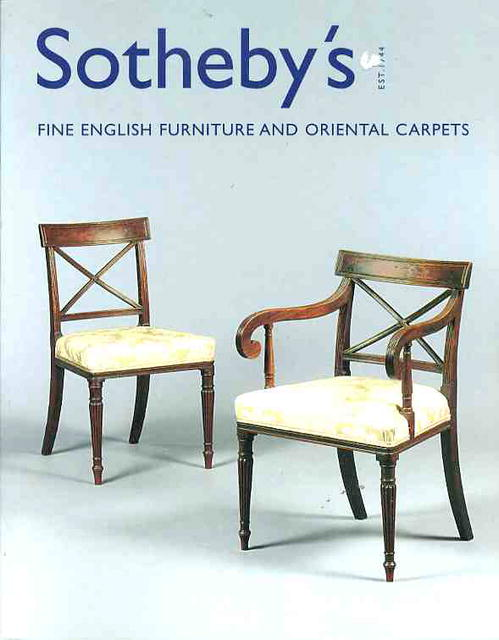 2001 sotheby 39 s london fine english furniture and oriental for Furniture auctions london