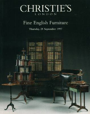 1997 cristie 39 s fine english furniture london 9 25 97 for Furniture auctions london