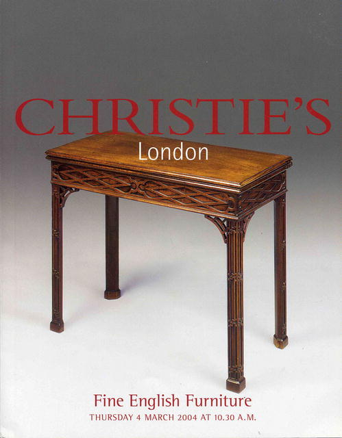 2004 christie 39 s london fine english furniture 3 4 04 for Furniture auctions london