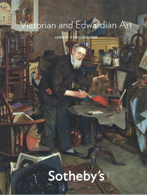 Sotheby 39 S Victorian And Edwardian Art London 12 17 09 Sale