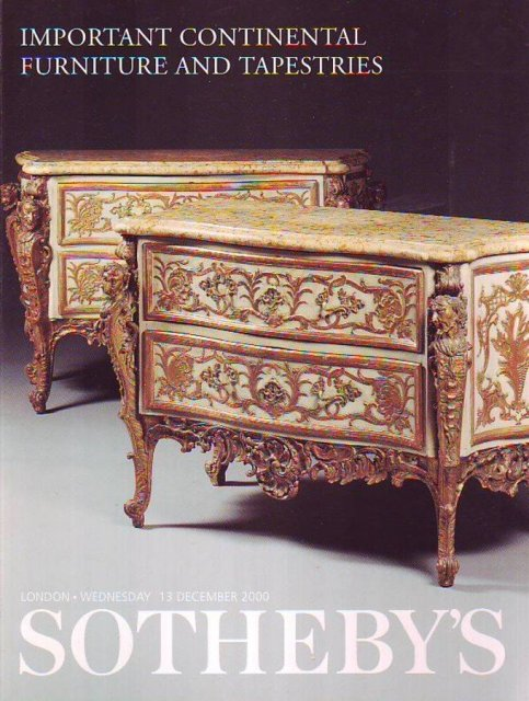 So aa sotheby 39 s important continental furniture and for Furniture auctions london