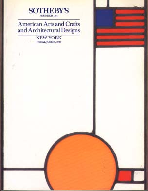1989 sotheby 39 s american arts and crafts and architectural for Arts and crafts new york