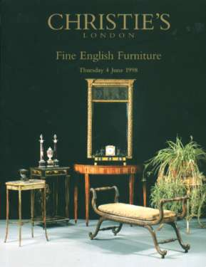 1998 christie 39 s fine english furniture london 6 4 98 for Furniture auctions london