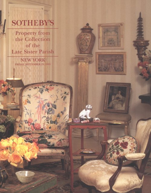 Sotheby's Property of A Palm Beach Private Collector 29 March 2011 New York