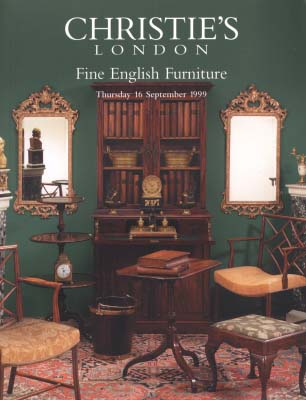 1999 christie 39 s fine english furniture london 9 16 99 for Furniture auctions london