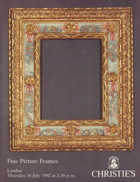 Christies Fine Picture Frames London 71692 Sale 4809 Auction