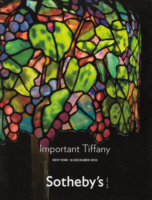sotheby 39 s important tiffany new york 12 16 10 sale 8697