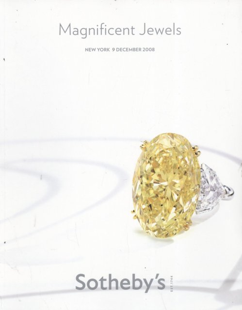 ih Sotheby's Magnificent Jewels New York 12/9/08 Sale 8498 ...