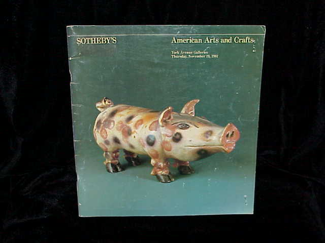 1981 sotheby 39 s american arts crafts new york 11 19 81 for Arts and crafts new york