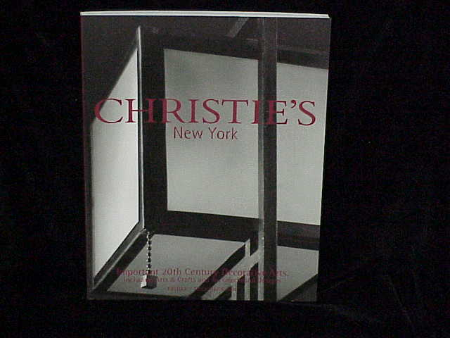 2001 christies important 20th century decorative arts for Arts and crafts new york
