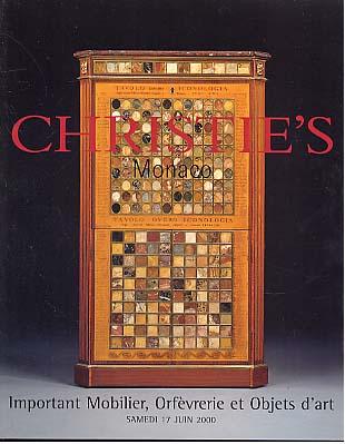 2000 christie 39 s important mobilier orfevrerie et objects - Mobilier 2000 meubles ...