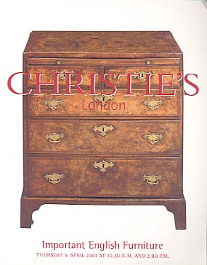 2001 christie 39 s important english furniture london 5 5 for Furniture auctions london