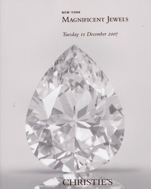 IH Christie's Magnificent Jewels New York 12/11/07 Sale ...
