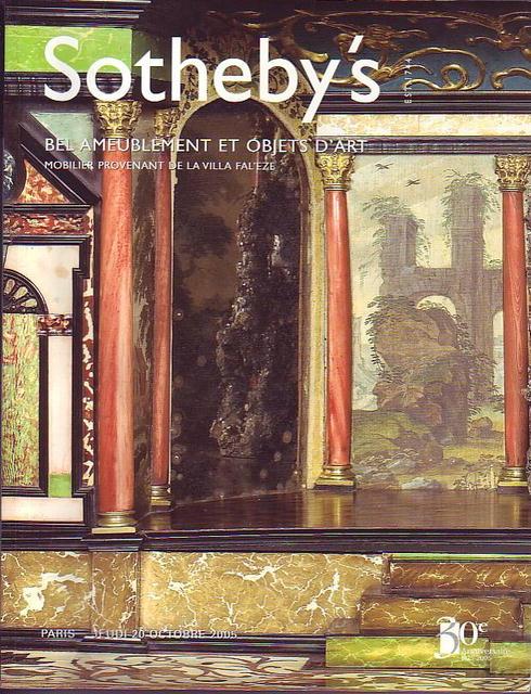 Sotheby 39 s bel ameublement et objets d 39 art paris 10 20 05 for Ameublement paris