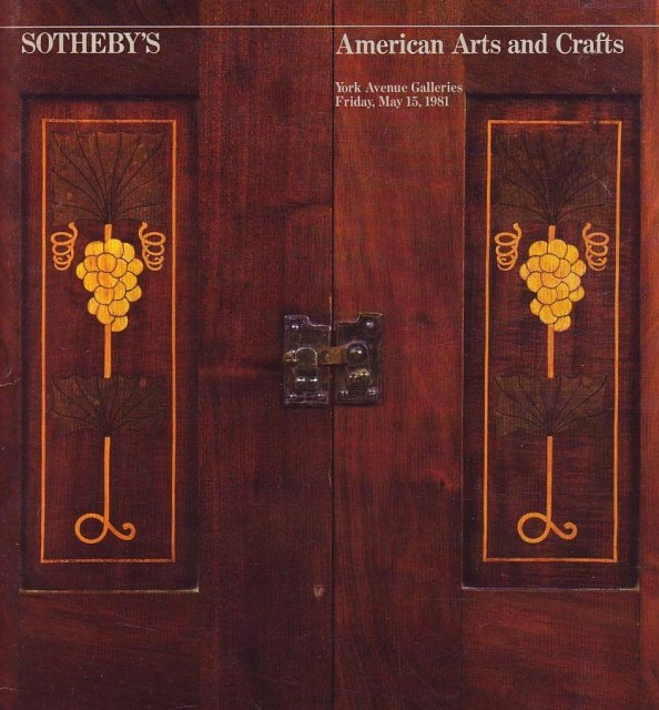 Sotheby 39 s american arts and crafts new york 5 15 81 sale for Arts and crafts new york