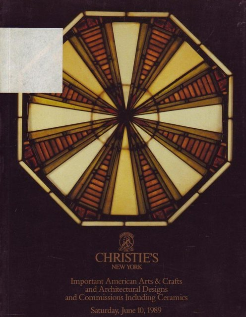 Christie 39 s important american arts crafts and for Arts and crafts new york