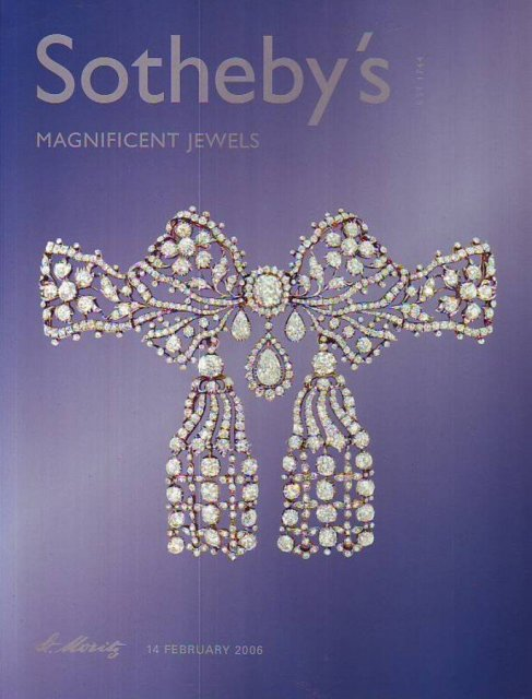 IH Sotheby's Magnificent Jewels St. Moritz 2/14/06 Sale ...