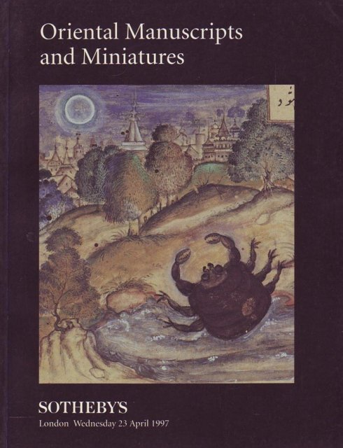 Sotheby's Oriental Manuscripts and Miniatures July 11, 1972