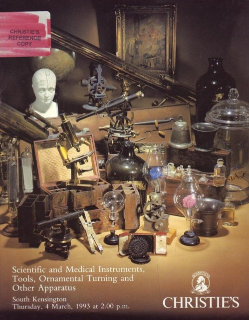 Christies Scientific Instruments 10/4/1995 Rare Collectible Auction Catalog 6-2