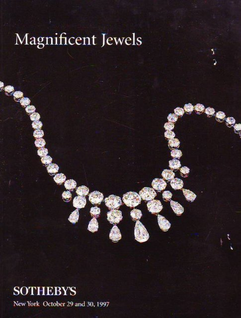 IH Sotheby's Magnificent Jewels New York 10/29/97 Sale ...