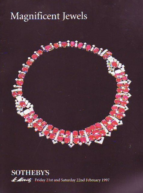 SO-AA Sotheby's Magnificent Jewels St. Moritz 2/21/97 Sale ...