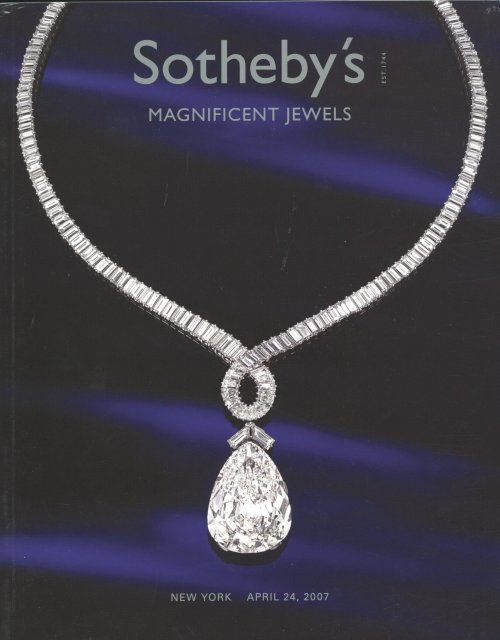 IH Sotheby's Magnificent Jewels New York 4/24/07 Sale 8306 ...