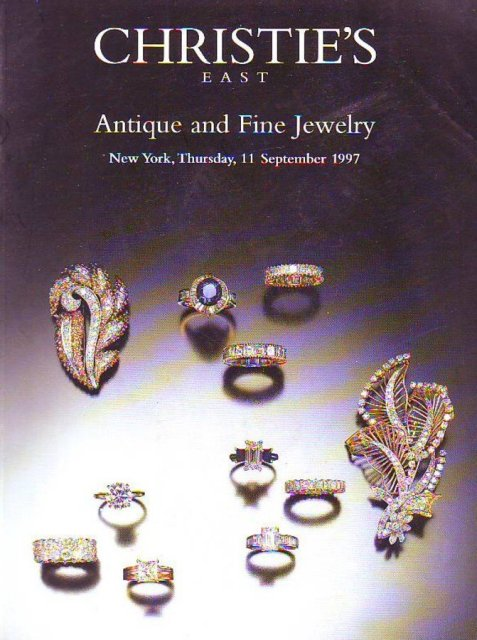 Christie 39 s east antique and fine jewelry new york 9 11 97 for Antique jewelry stores nyc