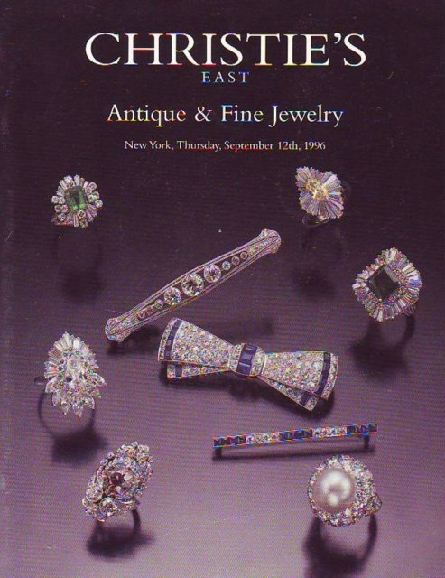 Christie 39 s east antique and fine jewelry new york 9 12 96 for Antique jewelry stores nyc