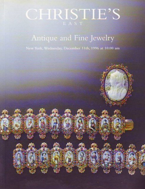 Christie 39 s east antique and fine jewelry new york 12 11 96 for Antique jewelry stores nyc