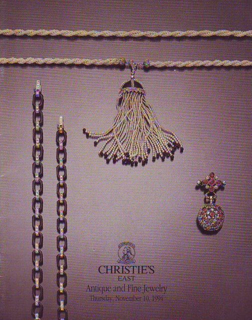 Christie 39 s east antique and fine jewelry new york 11 10 94 for Antique jewelry stores nyc