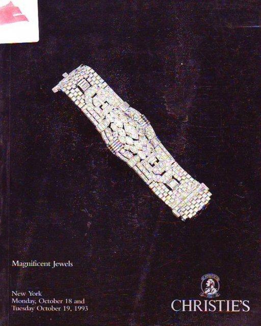 IH Christie's Magnificent Jewels New York 10/18/93 Sale ...