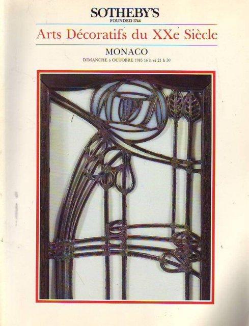 sotheby 39 s arts decoratifs du xxe siecle monaco 10 6 85 sale 2799a auction catalogs home of. Black Bedroom Furniture Sets. Home Design Ideas