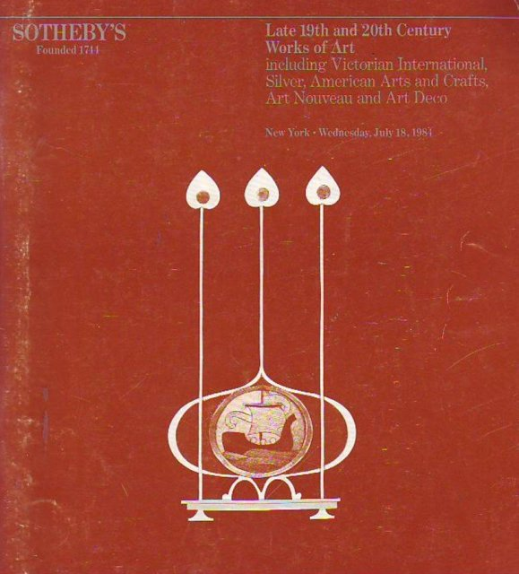 Sotheby 39 s late 19th and 20th century works of art for International arts and crafts
