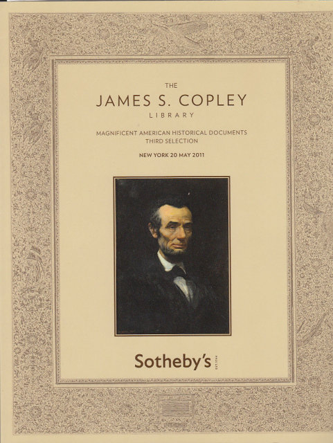 sotheby39s the james s copley library magnificent With american historical documents for sale
