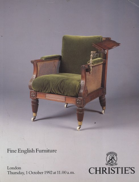Christie 39 s fine english furniture london 10 1 92 sale 4840 for Furniture auctions london