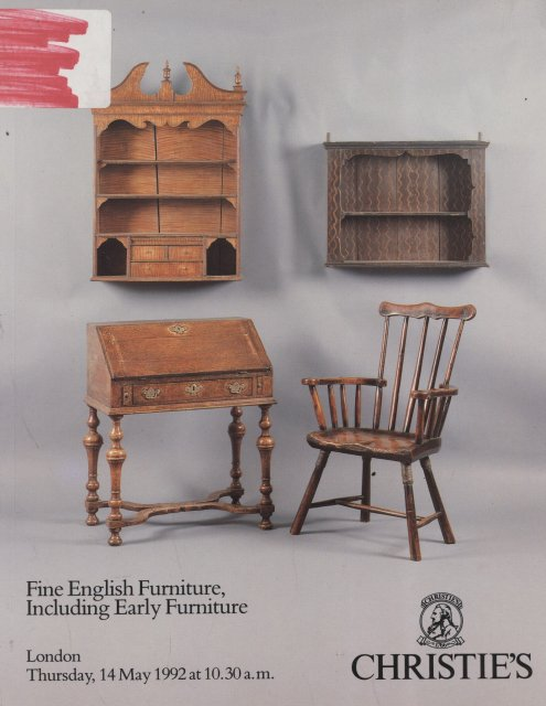 Christie 39 s fine english furniture including early for Furniture auctions london
