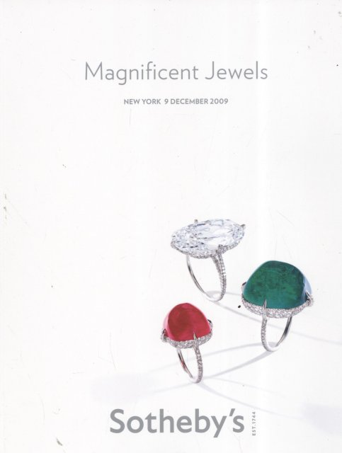 IH Sotheby's Magnificent Jewels New York 12/9/09 Sale 8601 ...