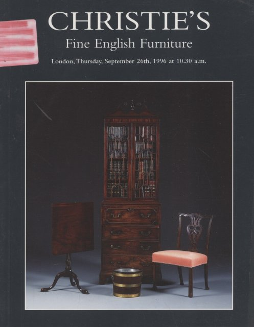 Christie 39 s fine english furniture london 9 26 96 sale 5665 for Furniture auctions london
