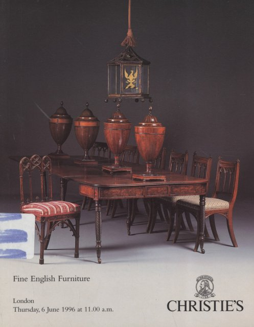 Christie 39 s fine english furniture london 6 6 96 sale 5601 for Furniture auctions london