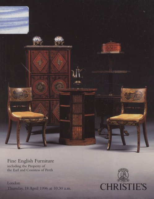 Christie 39 s fine english furniture london 4 18 96 sale 5577 for Furniture auctions london