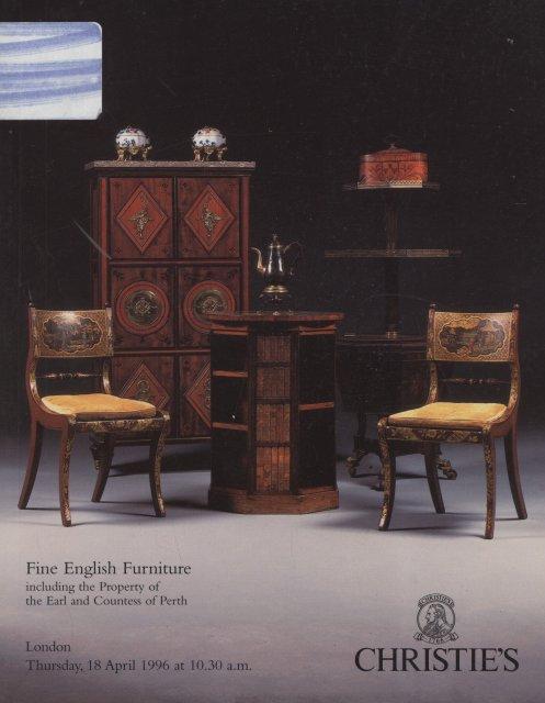 Christie 39 s fine english furniture london 4 18 96 sale 5577 for Home furniture london