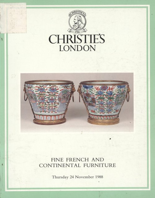Christie 39 s fine french and continental furniture london 11 for Furniture auctions london