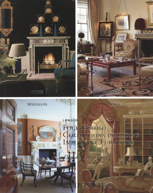Christie 39 s four british collections including important for Furniture auctions london