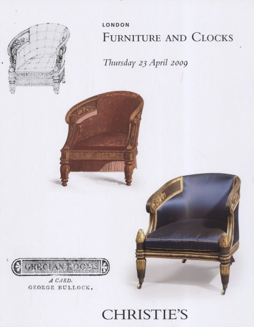 Christie 39 s furniture and clocks london 4 23 09 sale 7713 for Furniture auctions london