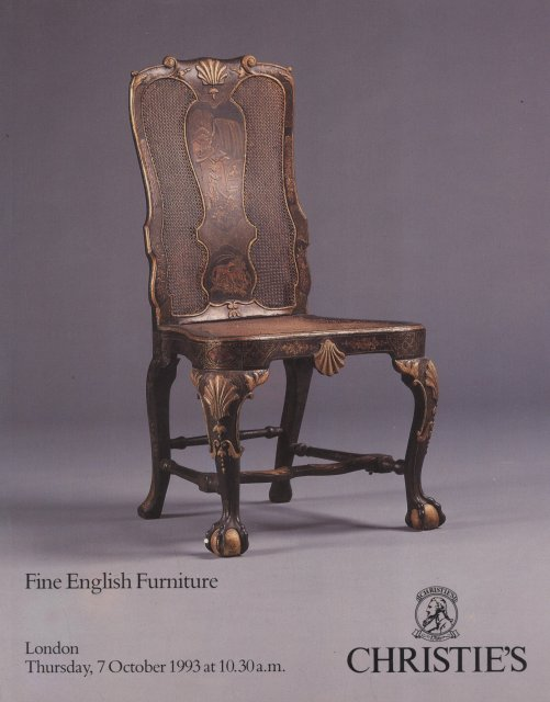 Christie 39 s fine english furniture london 10 7 93 sale 5047 for Furniture auctions london