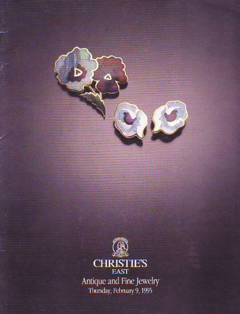 Christie 39 s east antique and fine jewelry new york 2 9 95 for Antique jewelry stores nyc